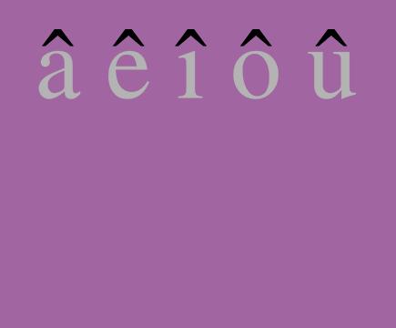 circonflexe